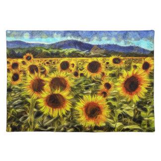 Sunflower Field Van Gogh Placemat