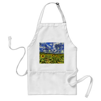 Sunflower Field Van Gogh Standard Apron