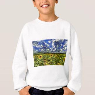 Sunflower Field Van Gogh Sweatshirt
