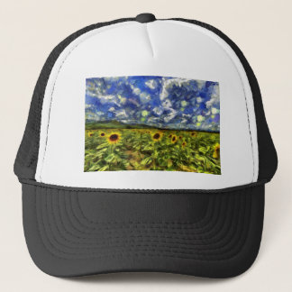 Sunflower Field Van Gogh Trucker Hat