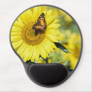 Sunflower Field with Butterfly Gel Mousepad