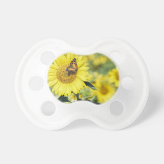 Sunflower Field with Butterfly Pacifier