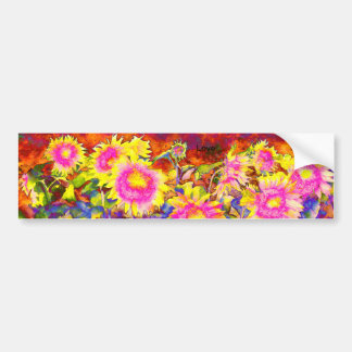 Sunflower Fields Bumper Sticker