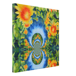 Sunflower fields forever canvas print