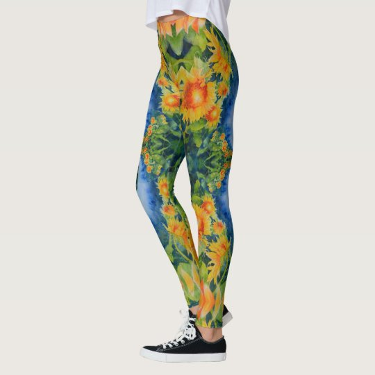 sunflower fields forever leggings