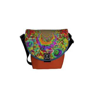Sunflower Fields forever orange - indigo child Courier Bags