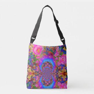 Sunflower fields forever -pink crossbody bag