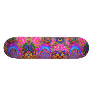 Sunflower Fields forever - pink Custom Skate Board