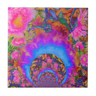 Sunflower fields forever - pink tile