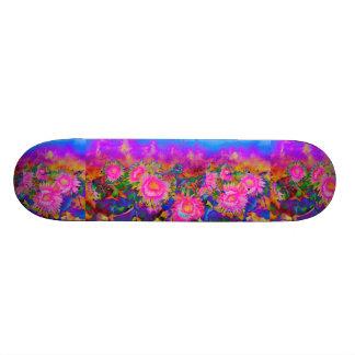 Sunflower fields forever custom skate board