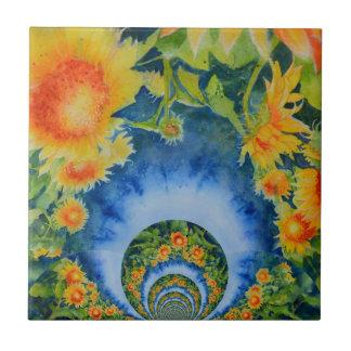 Sunflower Fields Forever Tile
