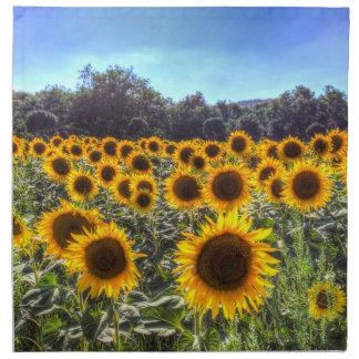Sunflower Fields Of Dreams Napkin