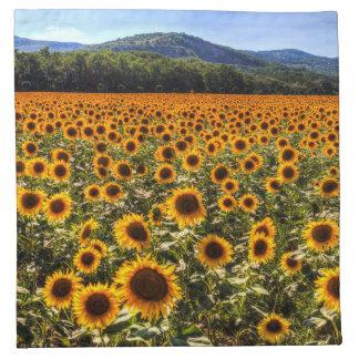 Sunflower Fields Of Summer Napkin