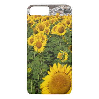 Sunflower fields, white hill town of Bornos iPhone 7 Plus Case