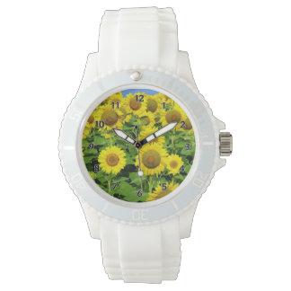 Sunflower Fields Wrist Watches