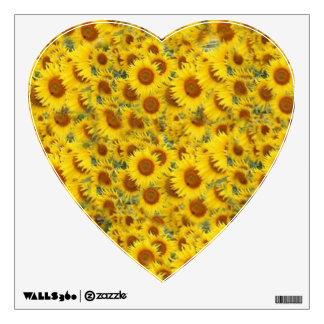 Sunflower Filled Heart Wall Sticker