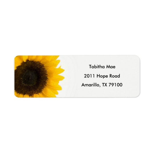 Sunflower Floral Address Label
