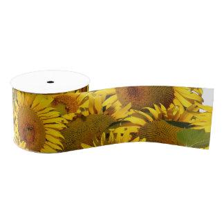 Sunflower Floral Flowers Garden Grosgrain Ribbon