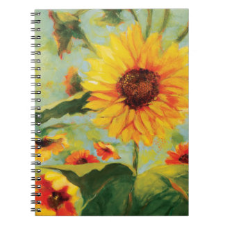 Sunflower Floral Journal Spiral Note Book