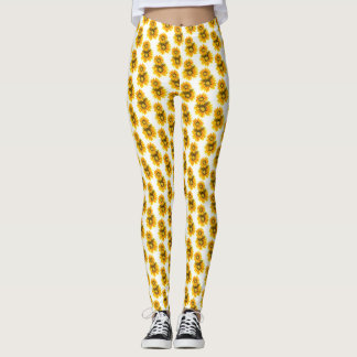 Sunflower Floral Pattern Leggings