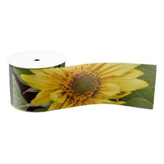 Sunflower Flower Floral Grosgrain Ribbon