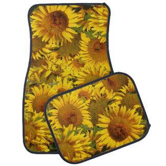 Sunflower Flowers Floral Floor Mats Car Floor Carpet