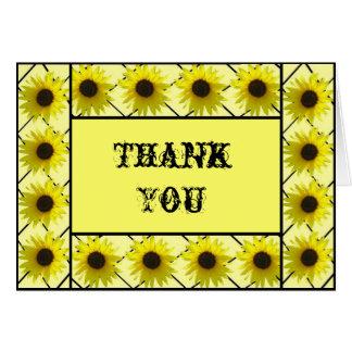 Sunflower Framed Thank You Card