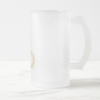 sunflower frosted glass beer mug