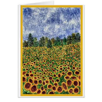 'Sunflower Galaxy' card