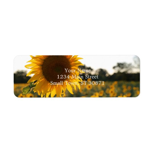 Sunflower garden.Beautiful flowers Return Address Label