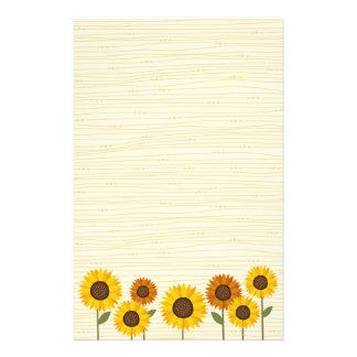 Sunflower garden customized stationery