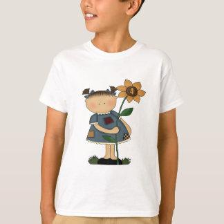 Sunflower Girl 4th Birthday Gifts T-Shirt
