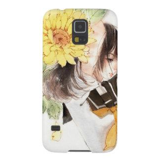 sunflower girl galaxy s5 case