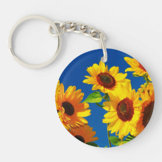 Sunflower Glory Keychain