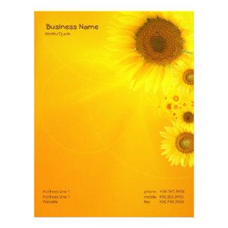 Sunflower Glow Letterhead