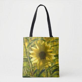 Sunflower Glow Printed Tote Bag
