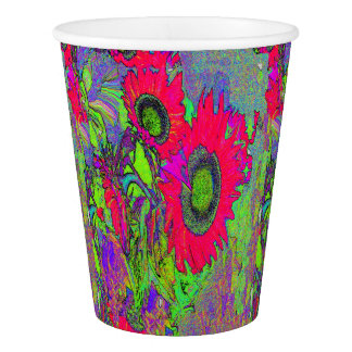 SUNFLOWER GRAPHIC ART BY ARA - PAPER PARTY CUPS PAPER CUP