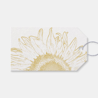 Sunflower Graphic Wedding Favor Tags