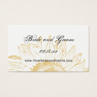 Sunflower Graphic Wedding Website Card