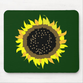 Sunflower green bg mouse pad