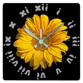 Sunflower Grey Fat Roman Numbers Wall Clock