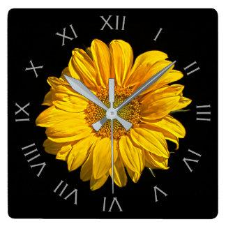 Sunflower Grey Roman Numbers Wall Clock