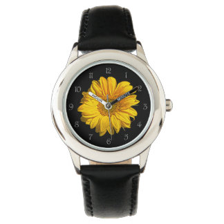 Sunflower Grey Script Numbers Kids Watch