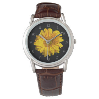 Sunflower Grey Script Numbers Mens Watch