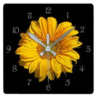 Sunflower Grey Script Numbers Wall Clock