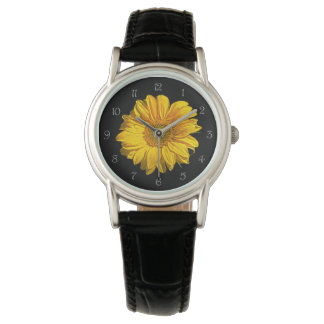 Sunflower Grey Script Numbers Womens Watch