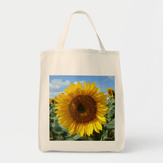 Sunflower Grocery Tote Bag