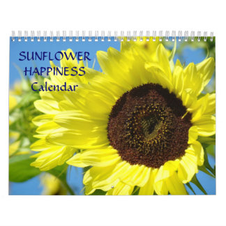 SUNFLOWER HAPPINESS Calendar Office Gifts