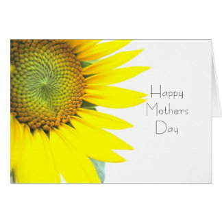 Sunflower Happy Mothers Day Card