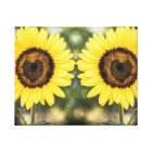 Sunflower hearts in love canvas print